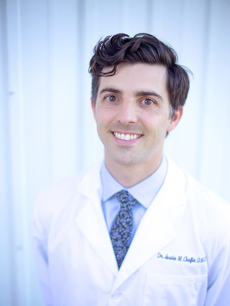 Dr. Justin Chafin is a dentist in Franklin, TN who lives with his wife, Kayla.